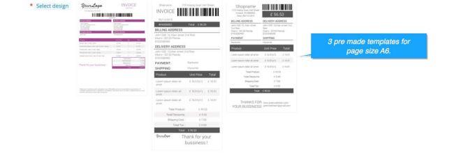 prestashop invoice templates page size a6