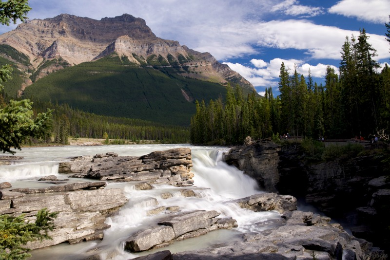 The most beautiful places in the world - Athabasca falls at dusk jasper Alberta Canada