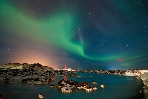 Aurora Borealis at Jökulsárlón Lagoon