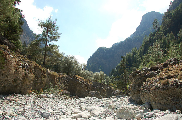 Samaria Gorge on the Greek Island of Crete