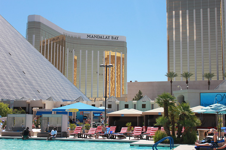 One of the Swimming Pools at the Luxor - Luxor Hotel Las Vegas