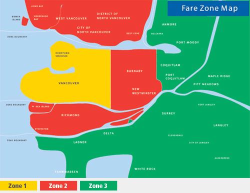 バンクーバーのゾーンMAP