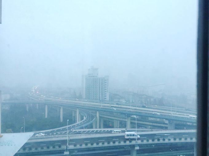 中国・上海の大気汚染