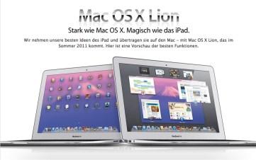 Neues Betriebssystem MAC OS X Lion