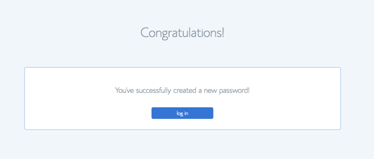 You've successfully created your password. On (How to start a WordPress blog)