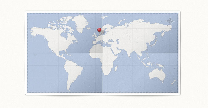 World Map & Pin
