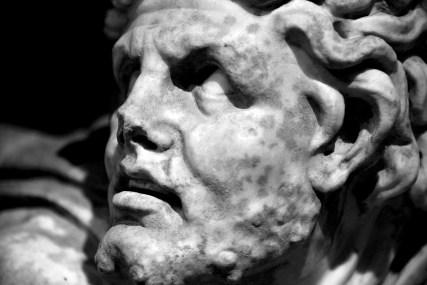 Amazzone a cavallo e barbaro - II secolo d.C. - particolare