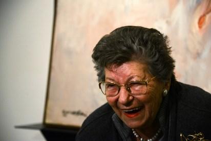 """Giulia Mafai alla presentazione della mostra """"Mafai Kounellis - La libertà del pittore"""" - Museo Carlo Bilotti, Roma 2014"""