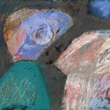 """15"""" x 17"""" Pastel and Paint on Paper"""