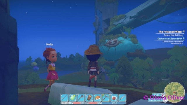 My Time at Portia - Molly and view of ruins