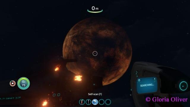 Subnautica - red moon