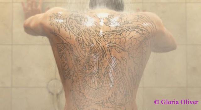 Yakuza 0 - Kyriu's Yakuza tattoo