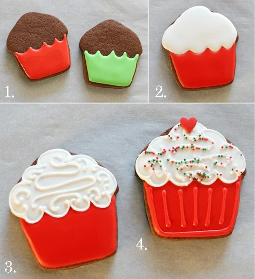 Cupcake decorated cookies