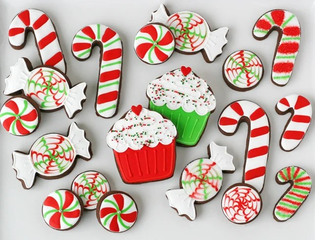 Peppermint Decorated Cookies