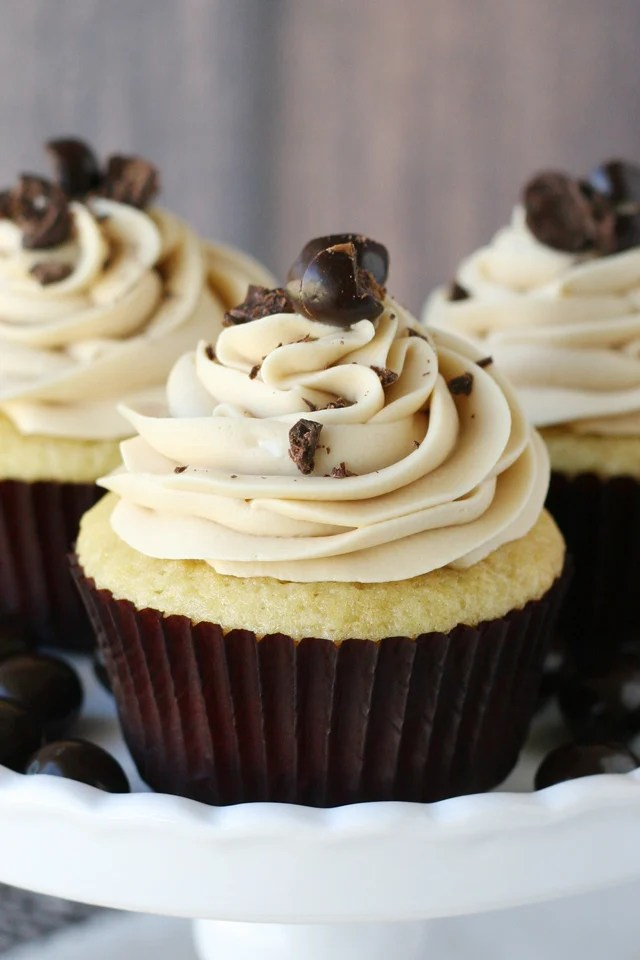 Vanilla Cupcakes With Coffee Buttercream Glorious Treats
