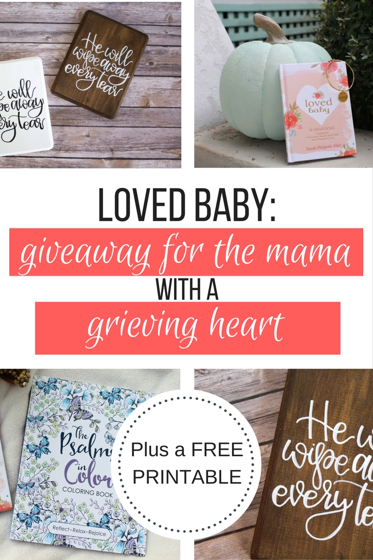 Have you had a miscarriage and struggling with your grief? What should you get a friend who had a miscarriage? Have you had a miscarriage and looking for resources? This giveaway has some tools that will minister to your heart or help you minister to your friend who has had a miscarriage. This giveaway also includes a free printable that will help you refocus your faith in Christ.