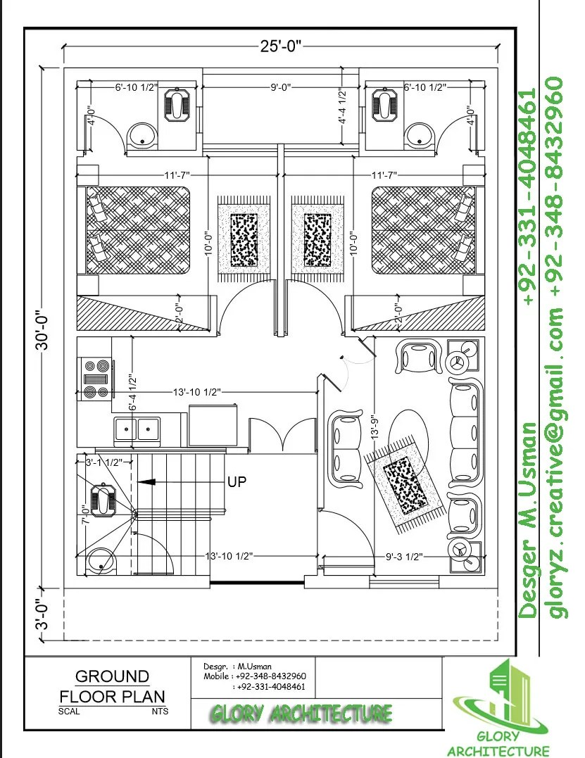 4 marla house plan