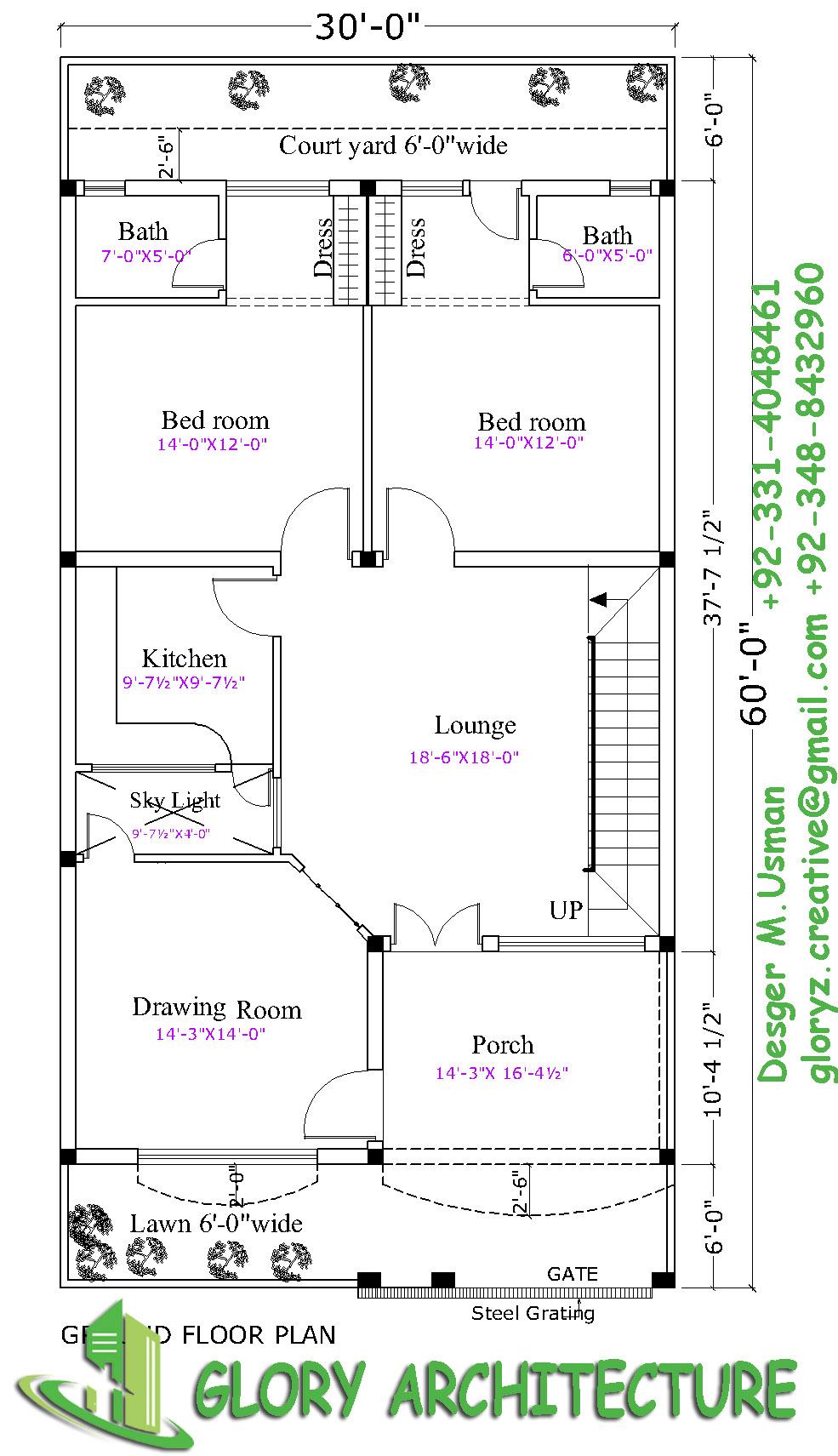 30x60 house plan