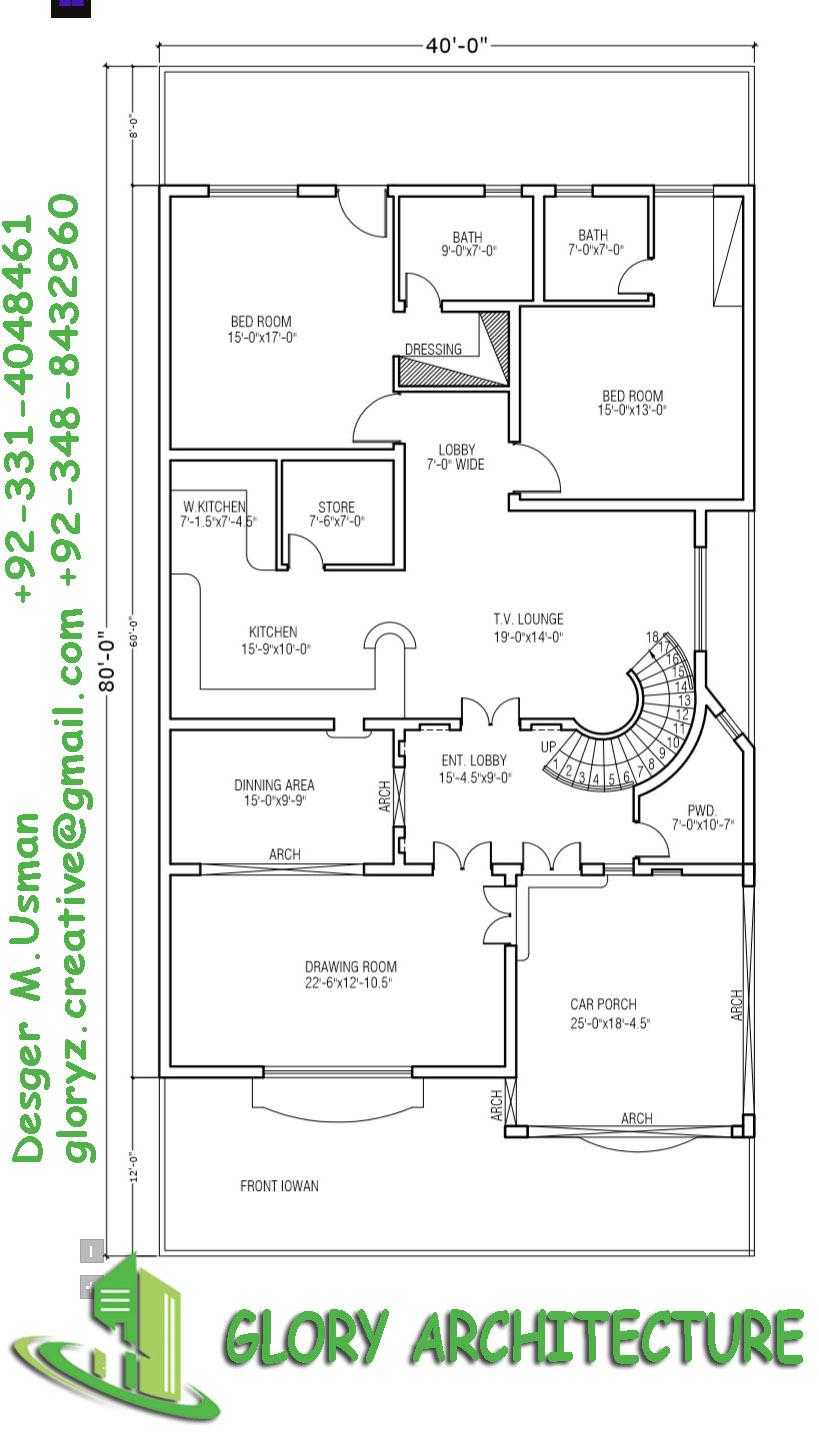 40x80 house plan