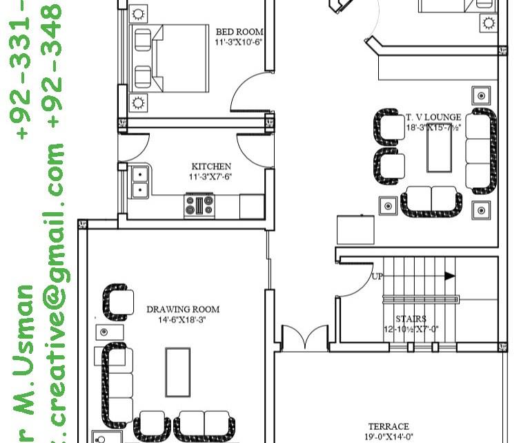 Home Design For 10 Marla: 40X80 House Plan, 10 Marla House Plan, 12 Marla House Plan