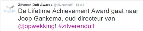 De lifetime achievement Award