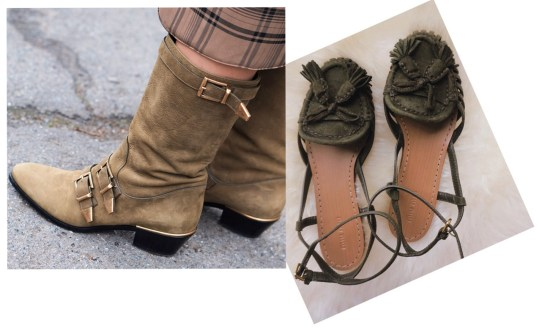 HOW TO BE STYLISH ON A BUDGET? Do you think that in order to be stylish you need to spend a lot of money? Think again! Chloe buckled boots and Miu Miu sandals bought at a designer sample sale.