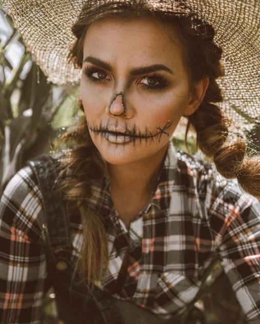 Scarecrow makeup by @kristinrosedavis