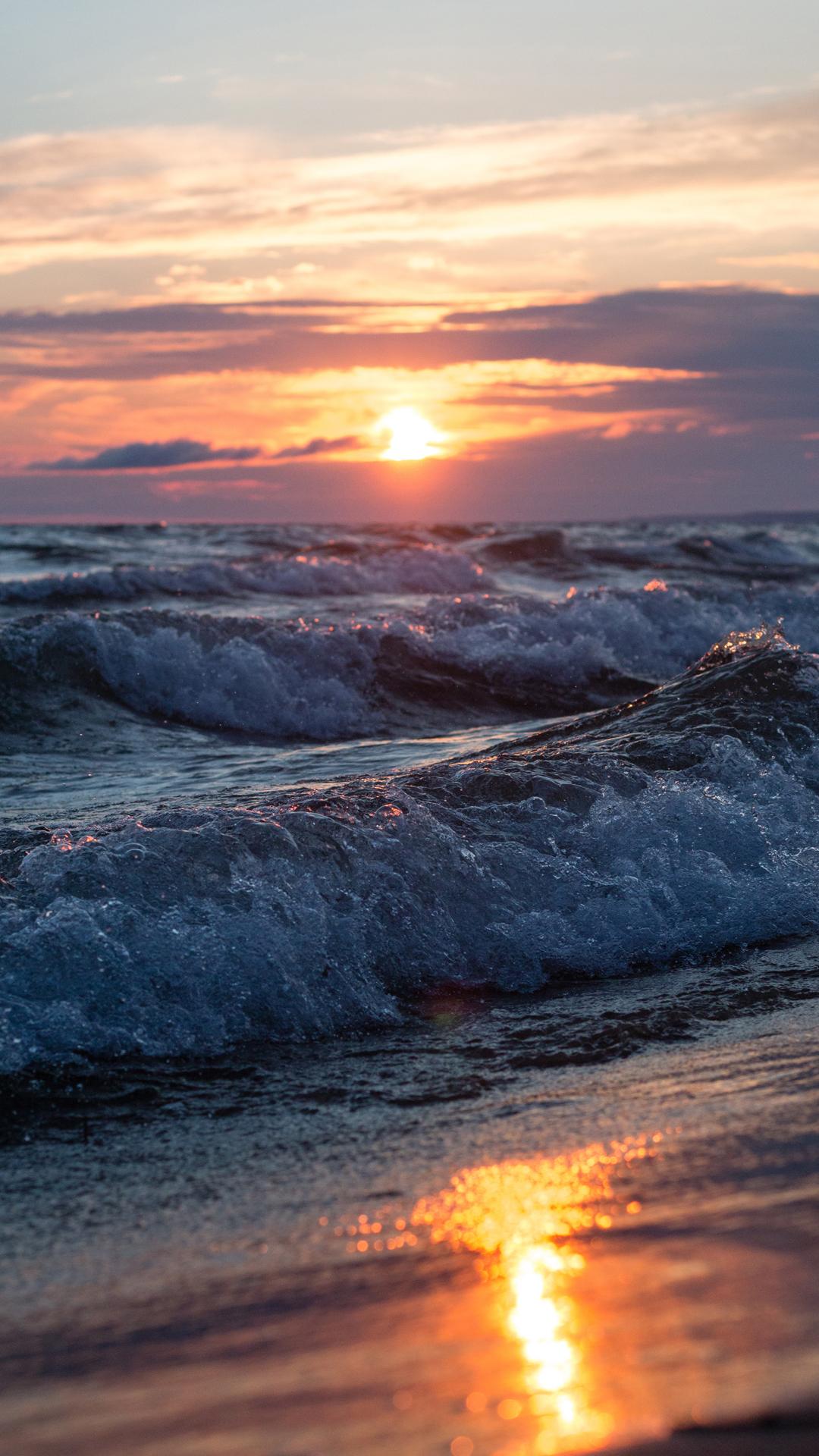 ocean sunset background