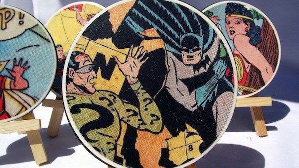 DIY Gifts For Men: Comic Book Coasters via Mod Podge Rocks