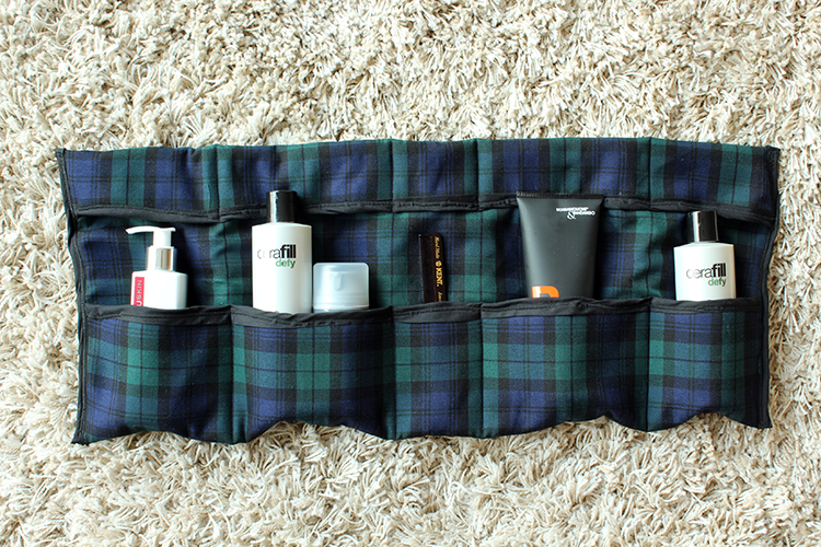 DIY Gifts For Him: Travel Toiletries Bag via The Crafty Gentleman