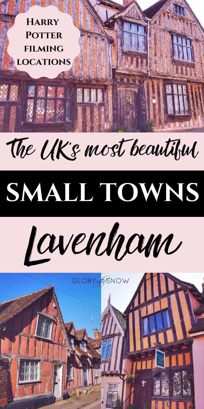UK travel destinations: Lavenham - Harry Potter filming location (Godric's Hollow).
