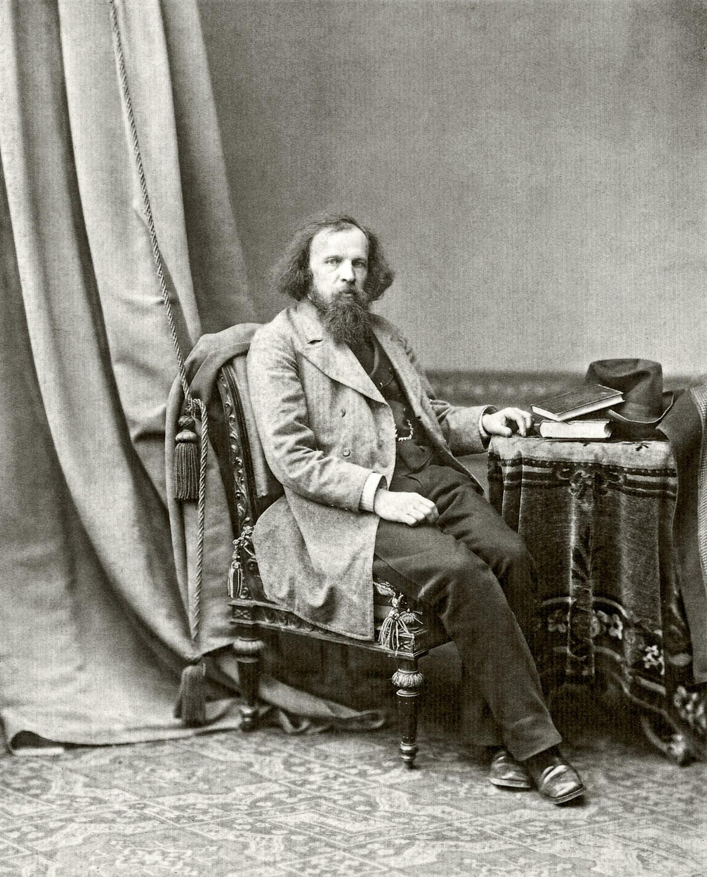 Portrait of the scientist Dmitrij Mendeleev