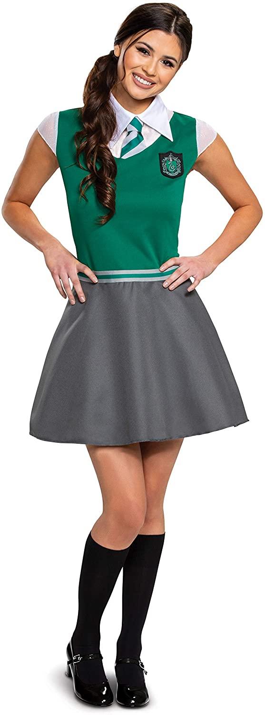 HARRY POTTER OFFICIAL HOGWARTS WIZARDING WORLD SLYTHERIN COSTUME FOR GIRLS