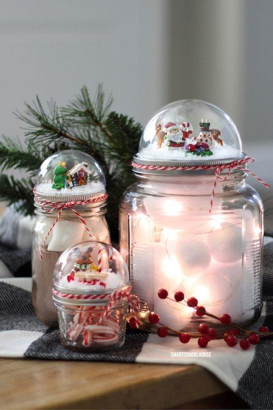 Creative DIY Christmas Gifts: Mason Jar Lid Snow Globe