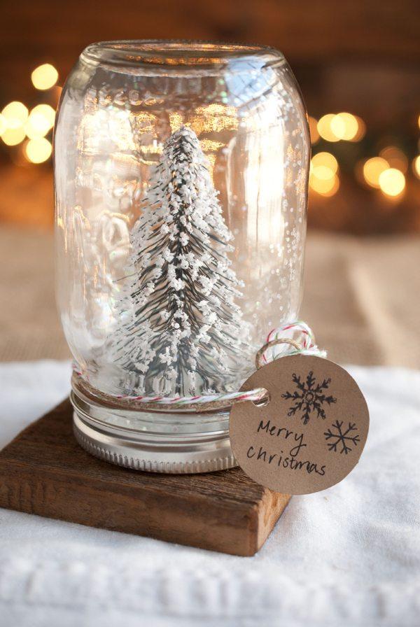 Homemade Christmas Gifts: DIY Mason Jar Snow Globes