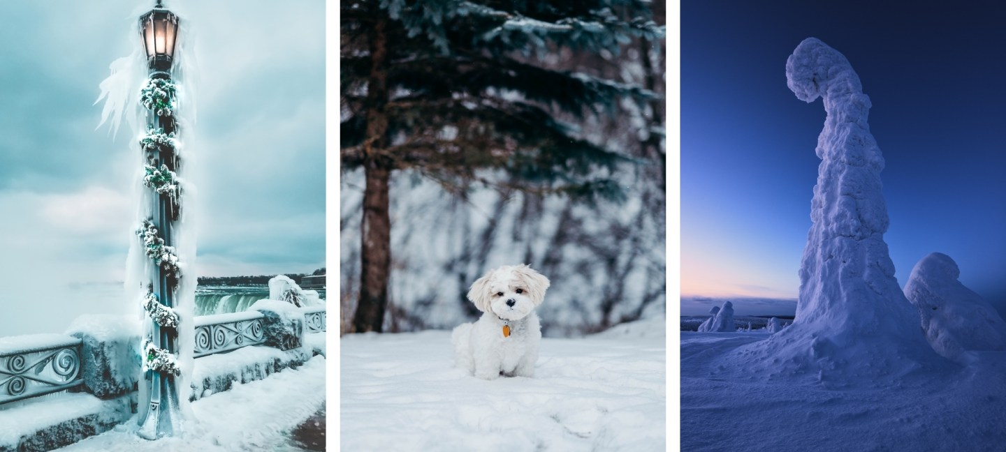 Free HD Winter Background Wallpaper For iPhone