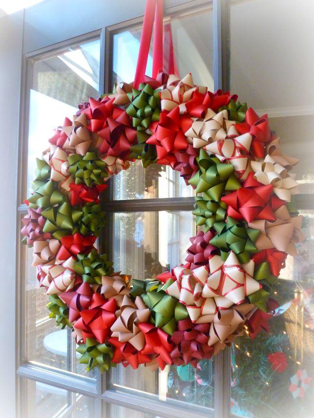 DIY Christmas Gift Bow Wreath