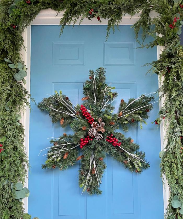 DIY Snowflake Wreath