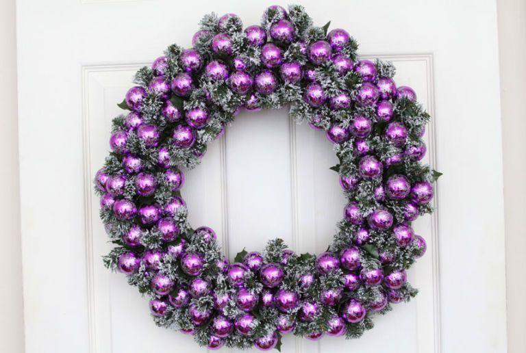 DIY Purple Reign Wreath