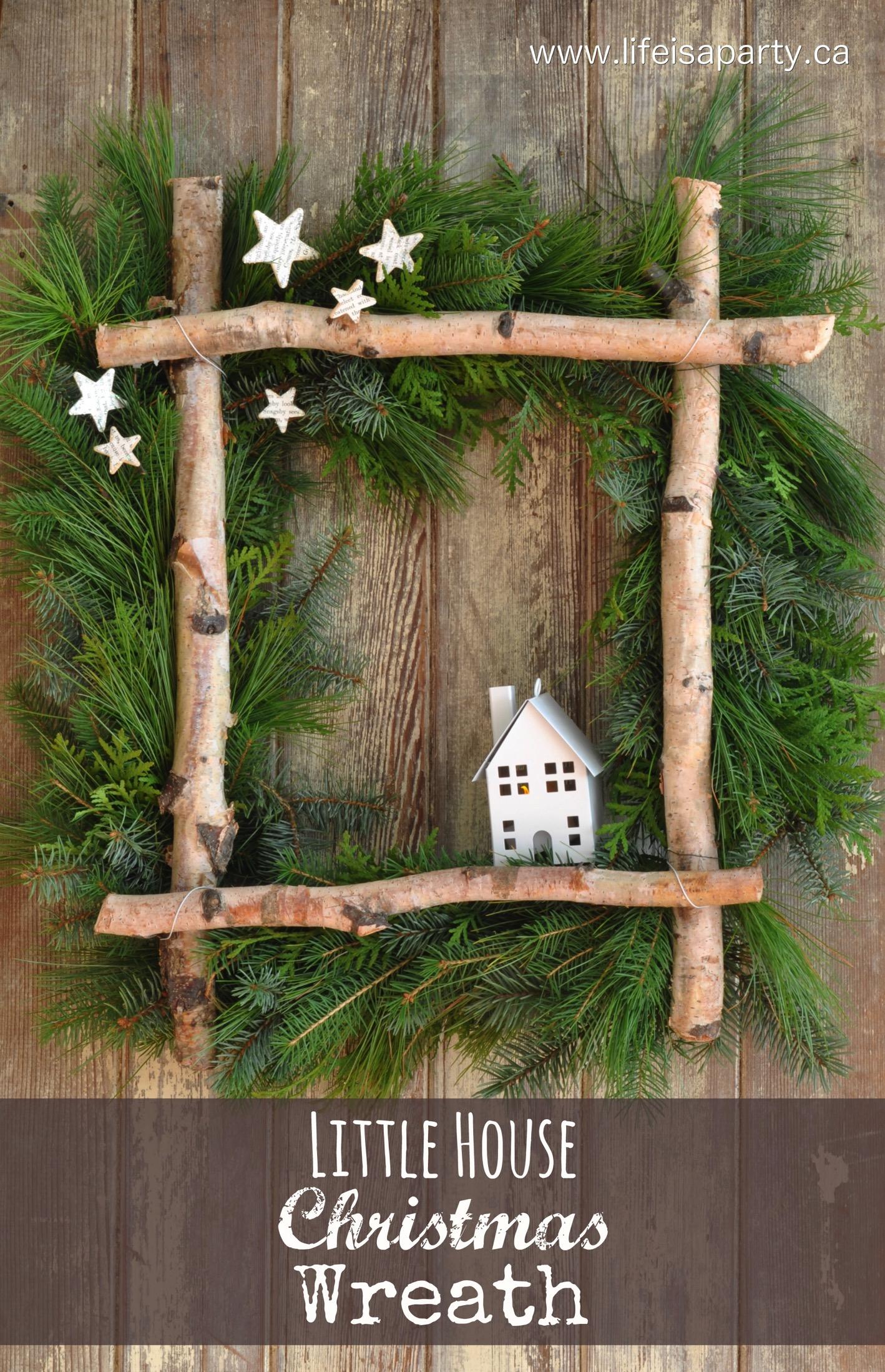 DIY Little House Christmas Wreath