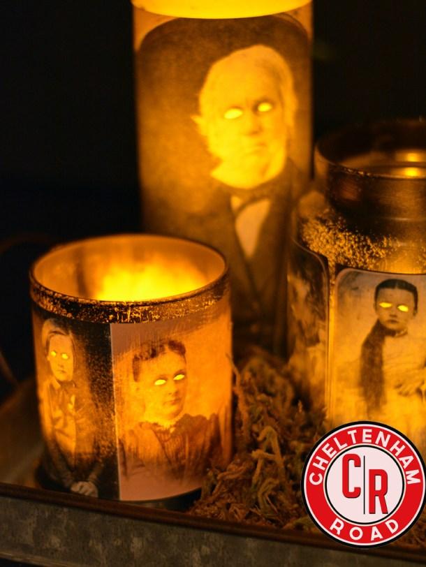 Halloween DIY spooky candles