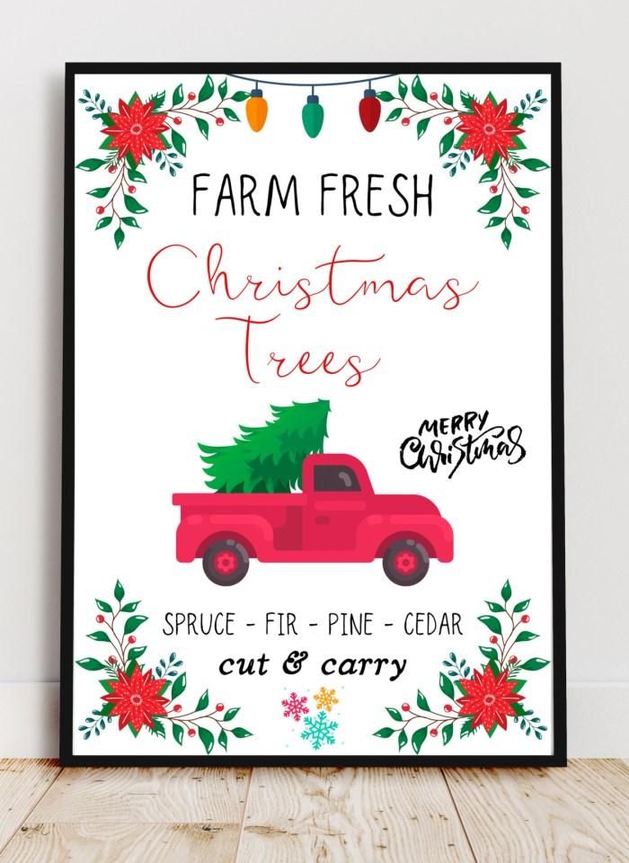 Free Christmas Art Printables For Festive Wall Decor