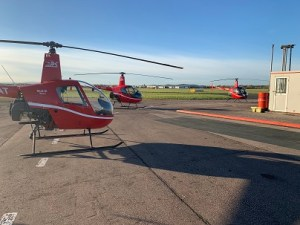 And then there were three - helicopters at the James Kenwright Helicopter Training Flying School