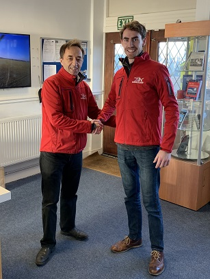 David Walter is another helicopter pilot trainee who has just passed his first solo flight by the James Kenwright flying school.