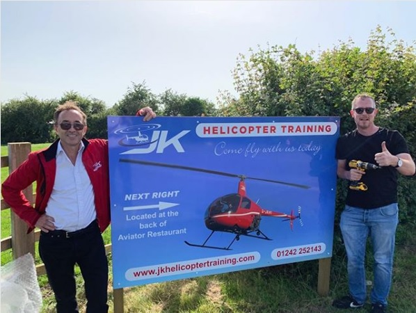 James Kenwright has just completed 4 years of helicopter pilot training at Gloucestershire airport.