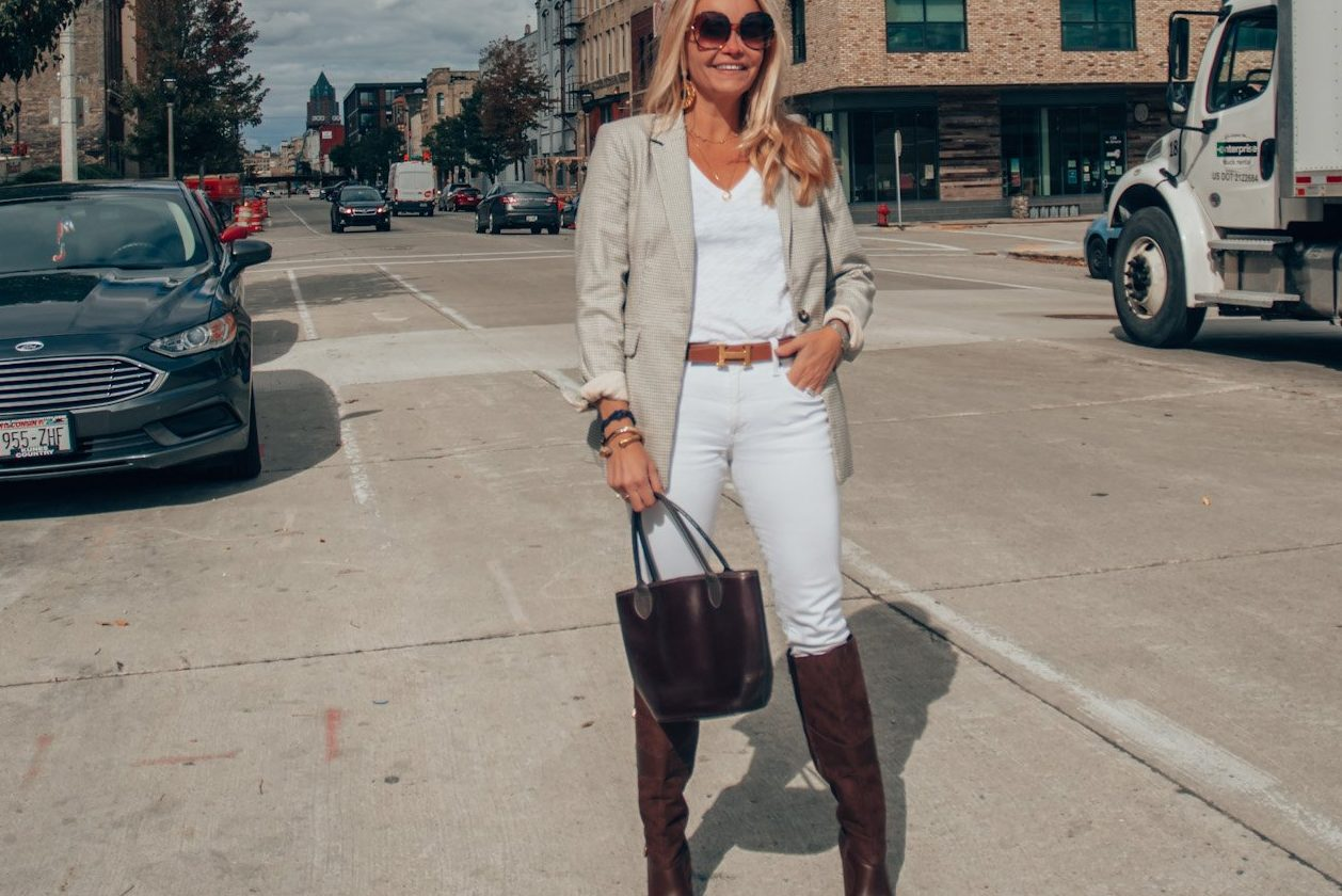 plaid-blazerwhite-jeans-styled-for-fall-and-winter-glossandharbour-milwaukee-wi