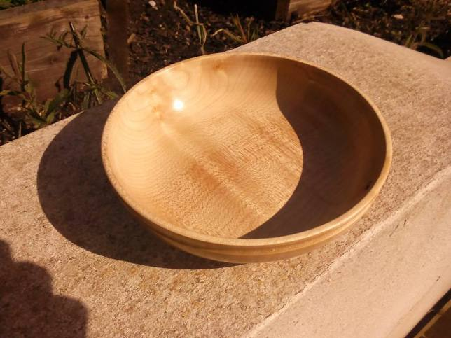 Finished bowl from top