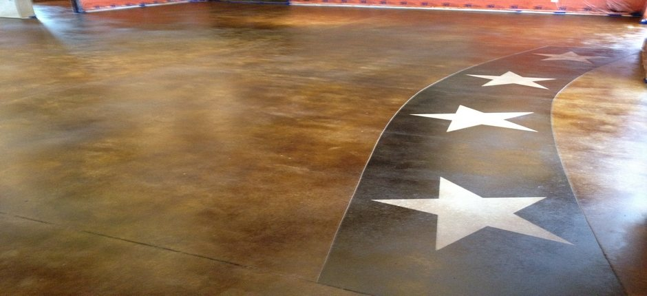 Custom Stained Concrete Floors : Interior stained concrete floor gallery glossy floors