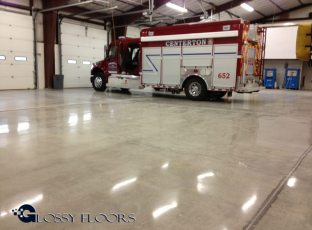 polished concrete Polished Concrete Gallery Centerton Fire Department 17