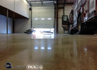 polished concrete Polished Concrete Gallery Centerton Fire Department 22